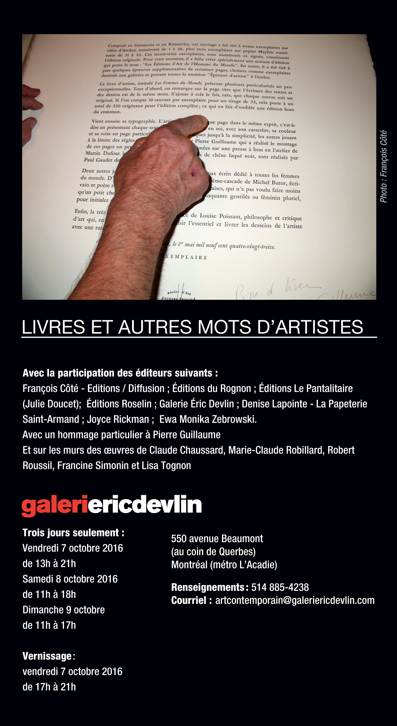 Exposition Galerie Éric Devlin, Marie-Claude Robillard