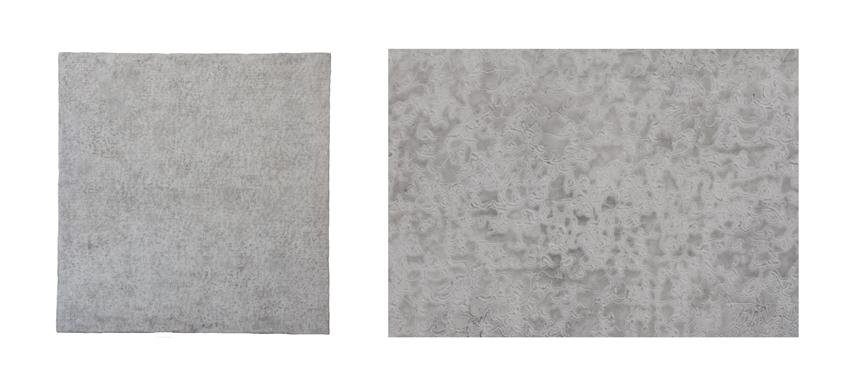 Sans titre (avec détail) Encaustique sur bois 30''X 30'' 2015